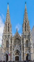 St. Patrick's Cathedral one of  main one of the main Manhattan Landmarks in New York City USA