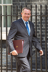 International Trade Secretary Liam Fox arrives at 10 Downing Street in London for a Cabinet meeting.