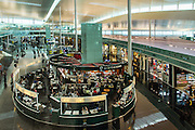 Busy shops at the airport, Barcelona , Spain