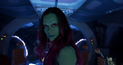 RELEASE DATE: May 5, 2017 TITLE: Guardians Of The Galaxy Vol. 2 STUDIO: Marvel DIRECTOR: James Gunn PLOT: Set to the backdrop of Awesome Mixtape #2, 'Guardians of the Galaxy Vol. 2' continues the team's adventures as they unravel the mystery of Peter Quill's true parentage PICTURED: Zoe Saldana as Gamora. (Credit Image: © Marvel/Entertainment Pictures/ZUMAPRESS.com)