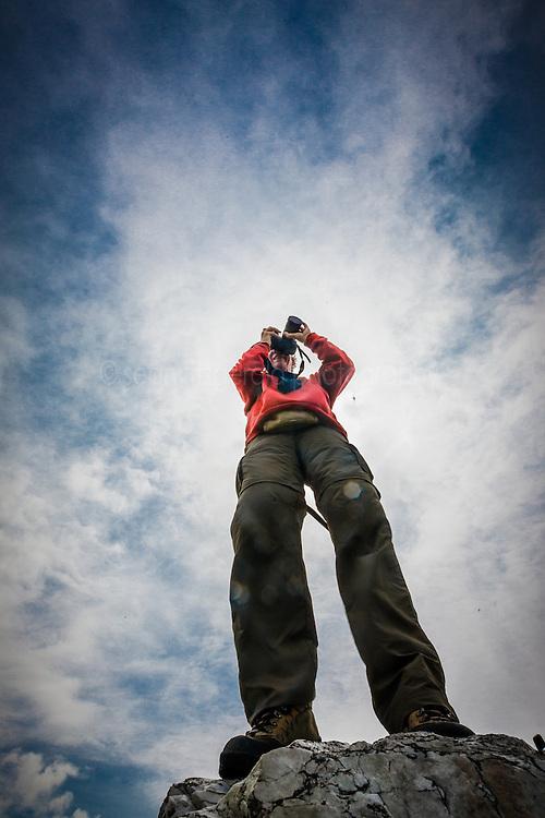 Photographers at Achill Island, County Mayo, Ireland