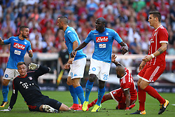 August 2, 2017 - Munich, Germany - Kalidou Koulibaly of Napoli scoring the goal of 1-0 during the Audi Cup 2017 match between SSC Napoli v FC Bayern Muenchen at Allianz Arena on August 2, 2017 in Munich, Germany. (Credit Image: © Matteo Ciambelli/NurPhoto via ZUMA Press)