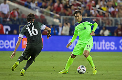 SANTA CLARA, USA - Saturday, July 30, 2016: Liverpool's Roberto Firmino in action against AC Milan during the International Champions Cup 2016 game on day ten of the club's USA Pre-season Tour at the Levi's Stadium. (Pic by David Rawcliffe/Propaganda)