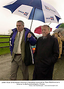 27-2-2000 TOM MACELLISTRIM FUNERAL..Charles Haughey and Paidi O'Shea pictured at the funeral  of the late Tom MacEllistrim  in Ballymacelligott, Co. Kerry in 2000..Picture by Don MacMonagle