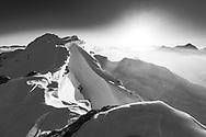 On the peak ridge, Parc Ela, Grisons, Switzerland