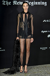 Milan Event Vogue Italy The New Beginning. Pictured Arrivals: Maria Carla Boscono