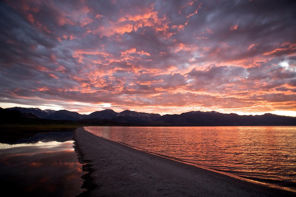 A Dappled Red Sky, Mono Lake