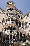 The Palazzo Contarini del Bovol aka 'the secret staircase', a small palace in Venice, Italy, best known for the external spiral staircase, with a plethora of arches, known as the Scala Contarini del Bovolo (of the snail). The palace is located in a less-traveled side-street near the Campo Manin, near the Rialto. Palazzo del Bovolo was chosen by Orson Welles as one of the main filming locations (Brabantio's house) for his 1952 screen adaptation of Shakespeare's Othello