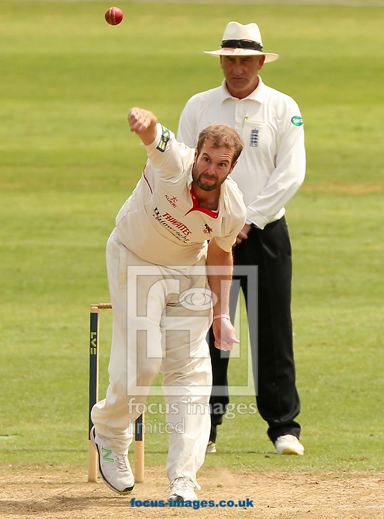 Tom Smith of Lancashire County Cricket Club bowls during the LV County Championship Div One match at the County Ground, Taunton, Taunton<br /> Picture by Tom Smith/Focus Images Ltd 07545141164<br /> 29/06/2014