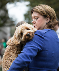 © Licensed to London News Pictures. 26/10/2017. LONDON, UK.  MARIA MILLER MP and her dog, Ted at the Westminster Dog of the Year Competition held in Victoria Tower Gardens. The Westminster Dog of the Year Competition is organised jointly by the Kennel Club and the Dogs Trust..  Photo credit: Vickie Flores/LNP
