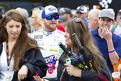 June 10, 2018 - Brooklyn, Michigan, U.S - NASCAR driver CHRIS BUESCHER (37) walks in the pit area at Michigan International Speedway. (Credit Image: © Scott Mapes via ZUMA Wire)