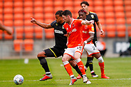 Wimbledon midfielder Tom Soares (19) in action  during the EFL Sky Bet League 1 match between Blackpool and AFC Wimbledon at Bloomfield Road, Blackpool, England on 20 October 2018.