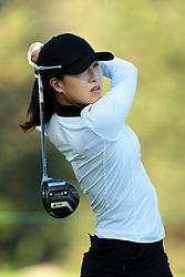 May 25, 2018 - Surrey, Michigan, United Kingdom - Jennifer Song of the United States  tees off on the second tee during the second round of the LPGA Volvik Championship at Travis Pointe Country Club, Ann Arbor, MI, USA Friday, May 25, 2018. (Credit Image: © Jorge Lemus/NurPhoto via ZUMA Press)