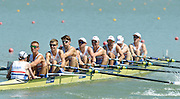 Plovdiv BULGARIA.  GBR JM8+. Bow, Charles SHAW, Titus MORLEY, Eduardo MUNNO., Thomas GEORGE, Callum JONES, Oliver WYNNE-GRIFFITH, Matthew BENSTEAD, Thomas MARSHALL and Cox. Edward HENSHAW.   2012 FISA Junior and Non Olympic . Rowing Championships, Plovdiv Rowing Centre  10:06:05  Thursday  16/08/2012  [Mandatory Credit; Peter Spurrier: Intersport Images]