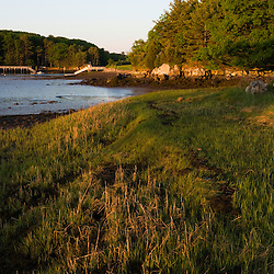 Early morning at the Creek Farm Preserve in Portsmouth, New Hampshire.  Society for the Protection of New Hampshire Forests property.  Spring.  Sagamore Creek.