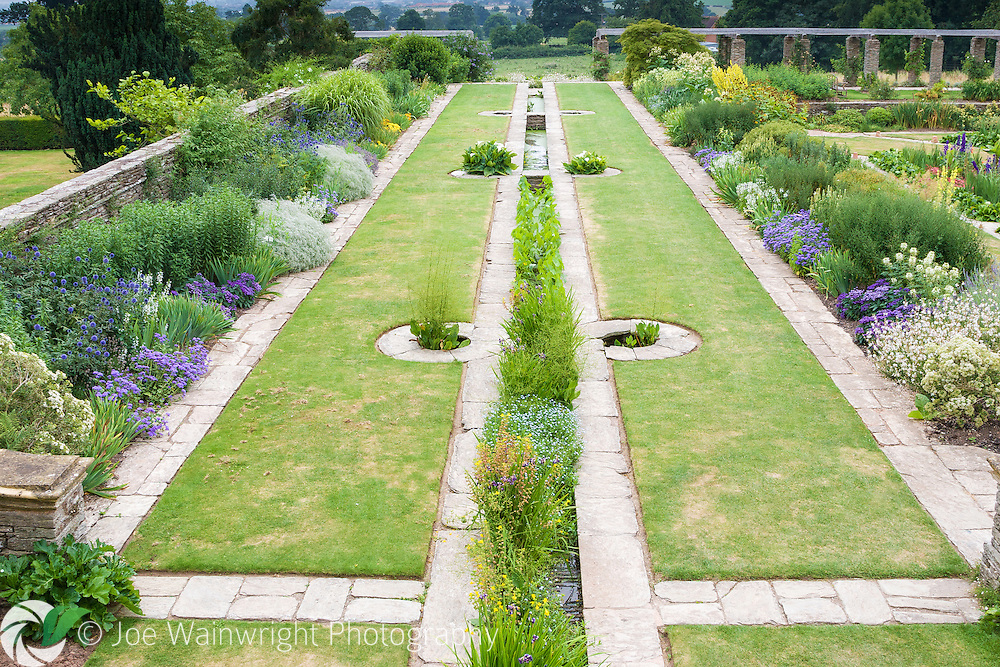 One of two rills in the formal gardens at Hestercombe, near Taunton, Somerset.