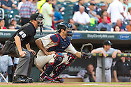 Joe Mauer #7 of the Minnesota Twins catches during a game against the Chicago White Sox on June 19, 2013 at Target Field in Minneapolis, Minnesota.  The Twins defeated the White Sox 7 to 4.  Photo: Ben Krause