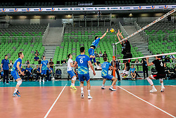 Klemen Cebulj of Slovenia during volleyball match between National teams of Slovenia and Portugal in 2nd Round of 2018 FIVB Volleyball Men's World Championship qualification, on May 26, 2017 in Arena Stozice, Ljubljana, Slovenia. Photo by Vid Ponikvar / Sportida