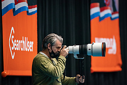 Photographer Henks Seppen in action during the Women's friendly match between Netherlands and Slovenia at De Maaspoort on march 19, 2021 in Den Bosch, Netherlands (Photo by RHF Agency/Ronald Hoogendoorn)