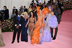 Corey Gamble, Kris Jenner, Kanye West, Kim Kardashian West, Kendall Jenner, Kylie Jenner and Travis Scott attend The 2019 Met Gala Celebrating Camp: Notes On Fashion at The Metropolitan Museum of Art on May 06, 2019 in New York City. Photo by Lionel Hahn/ABACAPRESS.COM