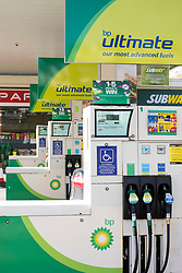 General view of a BP garage in Hornsey, north London. BP is currently the 5th most valuable British brand, according to analysts Brand Finance's directory. Picture date: Thursday March 9, 2017. Photo credit should read: Matt Crossick/ EMPICS Entertainment.