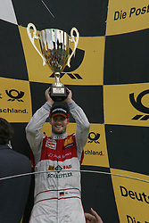 15.05.2011, Circuit Park, Zandvoort, NED, DTM 2011  2. Rennen, im Bild: Martin Tomczyk, dritter im Rennen mit Pokal   // during the dtm race Zandvoort  race 02, on 15/05/2011  EXPA Pictures © 2011, PhotoCredit: EXPA/ nph/   Theissen       ****** out of GER / SWE / CRO  / BEL ******