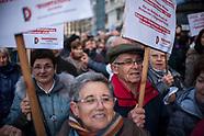Demonstration demanding public pension payouts
