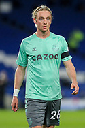 Everton midfielder Tom Davies (26) PORTRAIT during the Premier League match between Brighton and Hove Albion and Everton at the American Express Community Stadium, Brighton and Hove, England UK on 12 April 2021.