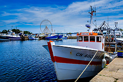 Fishing boat in the harbour at Honfleur, Normandy, France