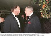 Ed Victor and Conrad Black. Duckworth Centenary Dinner. Dorchester, London 14/10/98<br />© Copyright Photograph by Dafydd Jones<br />66 Stockwell Park Rd. London SW9 0DA<br />Tel 0171 733 0108