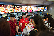 Busy McDonald's in Shanghai, China