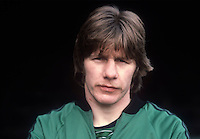 Gerry McElhinney, footballer, N Ireland, international, Bolton Wanderers, former amateur boxer and Gaelic footballer. 19820223014GME.<br /> <br /> Copyright Image from Victor Patterson, Belfast, UK<br /> <br /> t: +44 28 9066 1296 (from Rep of Ireland 048 9066 1296)<br /> m: +44 7802 353836<br /> e: victorpattersonbelfast@gmail.com<br /> <br /> www.images4media.com<br /> <br /> Please see my full Terms and Conditions of Use at https://www.images4media.com/p/terms-conditions - it is IMPORTANT that you familiarise yourself with them.<br /> <br /> Images used online incur an additional cost. This cost should be agreed in writing in advance. Online images must be visibly watermarked i.e. © Victor Patterson or that of the named photographer within the body of the image. The original metadata must not be deleted from images used online.<br /> <br /> This image is only available for the use of the download recipient i.e. television station, newspaper, magazine, book publisher, etc, and must not be passed on to a third party. It is also downloaded on condition that each and every usage is notified within 7 days to victorpattersonbelfast@gmail.com.<br /> <br /> The right of Victor Patterson (or the named photographer) to be identified as the author is asserted in accordance with The Copyright Designs And Patents Act (1988). All moral rights are asserted.