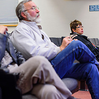 031215       Cable Hoover<br /> <br /> Candidates Fran Palochak, right, Michael Schaaf and Patti Herrera watch the election certification Thursday at City Hall. Palochak will be in a runoff election with opponent Cecil Garcia.