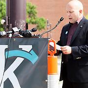 Kansas City Councilman Russ Johnson at the KC Streetcar groundbreaking ceremony, May 22, 2014.