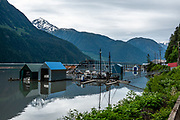 Portland Canal at Stewart, British Columbia, Canada. The Portland Canal is an arm of Portland Inlet, a fjord extending 114 kilometres (71 mi) inland on the British Columbia Coast to Stewart, British Columbia and Hyder, Alaska. The Portland Canal forms part of the border between southeastern Alaska and British Columbia. George Vancouver named Portland Canal in 1793, in honour of William Cavendish-Bentinck, 3rd Duke of Portland. The use of the word canal (meaning channel) to name inlets on the BC Coast and Alaska Panhandle is a legacy of Spanish exploration in the 1700s. The placement of the international boundary in the Portland Canal was a major issue during the negotiations over the Alaska Boundary Dispute, which heated up as a result of the Klondike Gold Rush and ended by arbitration in 1903.