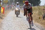 Jasper Stuyven (BEL - Trek - Segafredo) during the 105th Tour de France 2018, Stage 9, Arras Citadelle - Roubaix (156,5km) on July 15th, 2018 - Photo Kei Tsuji / BettiniPhoto / ProSportsImages / DPPI