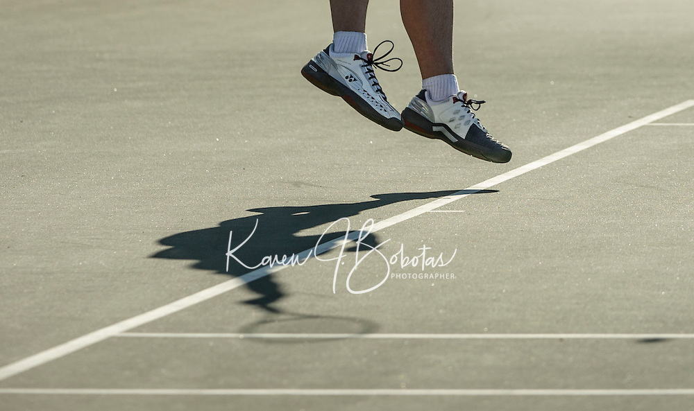 St Paul's School Tennis with Groton School Wednesday, April 24, 2013.  Karen Bobotas Photographer
