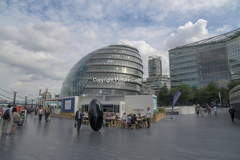 City Hall London on 18 July 2019, City of London, UK.
