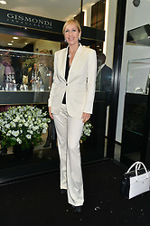 TANIA BRYER at the opening of the new Gismondi Jewellery boutique, 14 Albermarle Street, London on 9th October 2014.