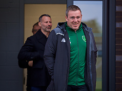 WREXHAM, WALES - Wednesday, October 30, 2019: Republic of Ireland coach Richard Dunne during the 2019 Victory Shield match between Wales and Republic of Ireland at Colliers Park. (Pic by David Rawcliffe/Propaganda)