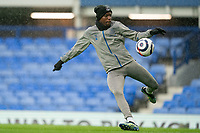 Football - 2020 / 2021 Premier League - Everton vs Sheffield United - Goodison Park<br /> <br /> <br /> Everton's Niels Nkounkou during the pre-match warm-up <br /> <br /> <br /> COLORSPORT/TERRY DONNELLY