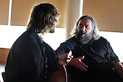 """Author of """"Natural Born Killers,"""" David Schmid speaks with Max Calenberg before his talk at Grinnell College, August 28, 2010."""
