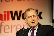 Founding partner of Geraldonline, Gerald Ratner speaks at the Retail Week conference in London. Gerald Irving Ratner (born 1949, London), is a British businessman. He was formerly chief executive of the major British jewellery company Ratners Group (now the Signet Group). He achieved notoriety after making a speech in which he jokingly denigrated the company's products, which caused the company's near collapse.