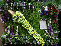 Tennis - 2021 All-England Championships - Week One - Wimbledon<br /> <br /> Shop front displays during the Wimbledon fortnight.<br /> <br /> COLORSPORT/ASHLEY WESTERN