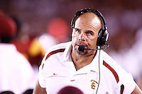 1 September 2007: Defensive Coordinator, Defensive Line coach Nick Holt on the sidelines during USC Trojans college football team defeated the Idaho Vandals 38-10 at the Los Angeles Memorial Coliseum in CA.  NCAA Pac-10 #1 ranked team first game of the season.