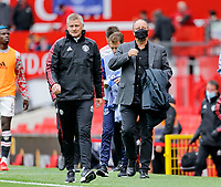 Football - 2021 / 2022 Pre-Season Friendly - Manchester United vs Everton - Old Trafford - Saturday 7th August 2021<br /> <br /> Manchester United Ole Gunnar Solskjaer walks back to the tunnel with Everton manager Rafa Benitez close behind, at Old Trafford.<br /> <br /> COLORSPORT/ALAN MARTIN