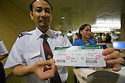 Airbus A380 first commercial flight - Singapore Airlines SQ 380 Singapore-Sydney on October 25, 2007. Heimo Aga's boarding pass.