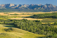 Great Plains prairie meeting the Rocky Mountains at Waterton Lakes National Park Alberta Canada