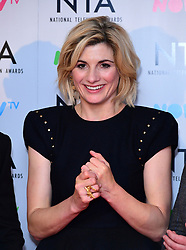 Jodie Whittaker in the Press Room at the National Television Awards 2018 held at the O2 Arena, London.