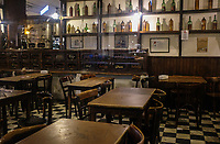 BUENOS AIRES, ARGENTINA - CIRCA AUGUST 2017: Exterior of the Bar Plaza Dorrego. Bar Plaza Dorrego is one of those super-evocative, classic, old-school spots in San Telmo.